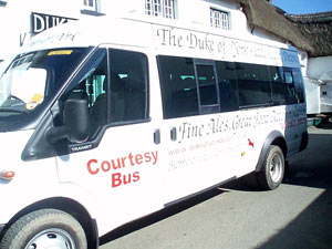 Our courtesy bus